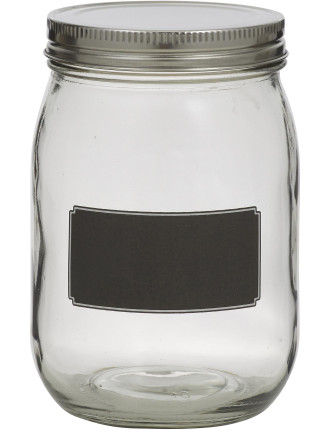 Blackboard Canister with  Stainless Steel Lid 16cm