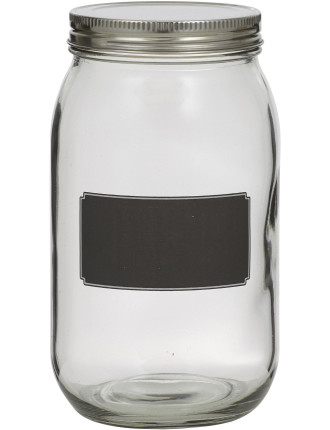 Blackboard Canister with  Stainless Steel Lid 20cm