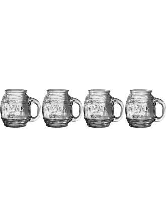 500ml Small Barrel Mug 4 Piece Set