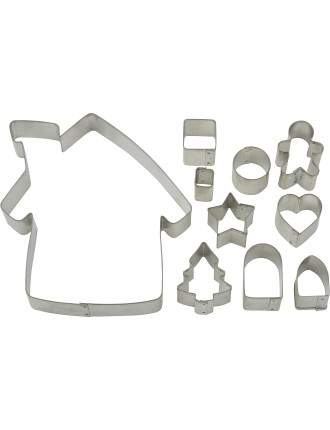 10 piece Gingerbread House Cookie Cutter Set