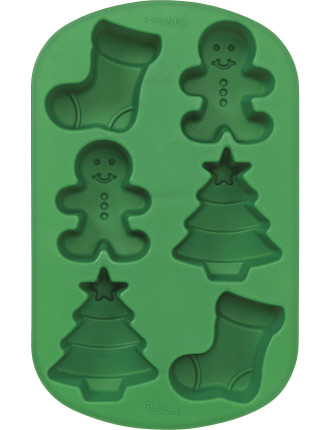 6 Cavity Stocking/Boy/Tree Silicone Mould