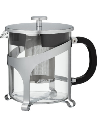 Contempo Glass/Chrome Tea Pot 1 Litre - 8 Cup