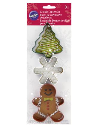 Christmas Metal 3 Piece Cookie Cutter Set