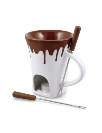 &Nostalgia 4 Pcs Chocolate Fondue Mug Set