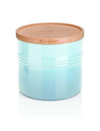 Xl Storage Jar With Wood Lid