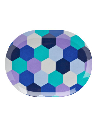 Honeycomb Oval Side Plate