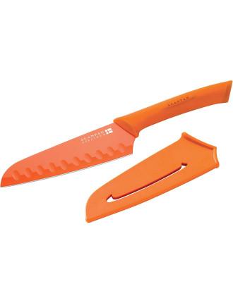 SPECTRUM Orange Santoku Knife