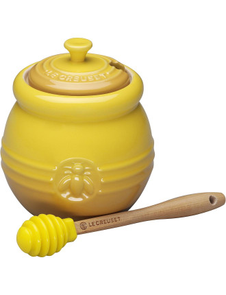 Honey Pot With Dipper Dijon
