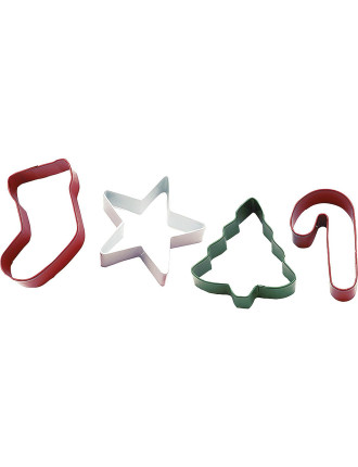 Jolly Shapes 4 piece Metal Cookie Cutter Set