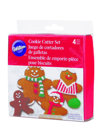 4pc Nesting Gingerbread Boy Metal Cutter Set