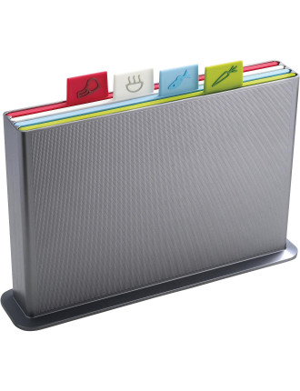 Large Index Advance Chopping Board - Silver