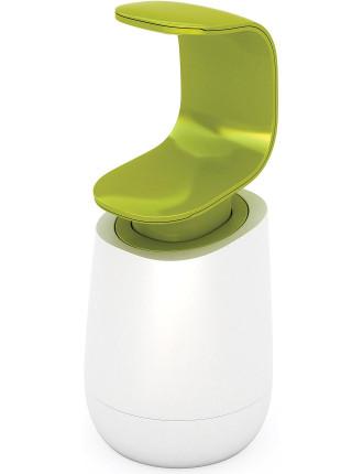 C-pump  Single Handed Soap Dispenser - white/ green