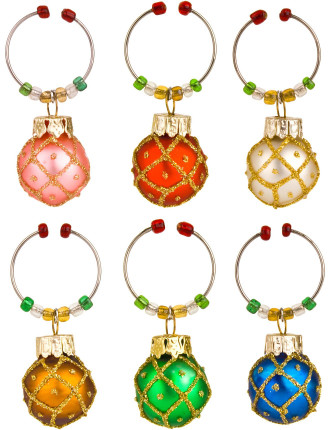 Wine Charms Set of 6 - Ornaments