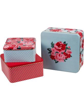 Roses Cake Tin Set of 3