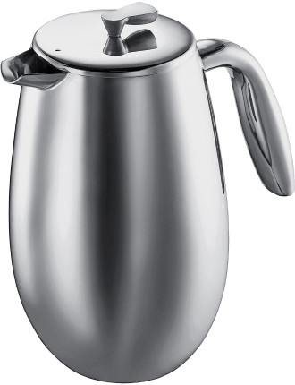Columbia Coffee Press Double Wall 8Cup Stainless Steel