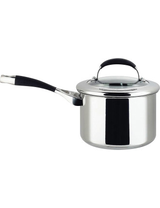 Steel Elite 18cm/2.8L Covered Saucepan