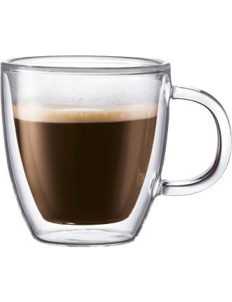Bistro 2 piece Espresso Cup with Handle 120ml