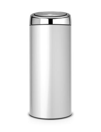 Touch Bin 30 Litre Metallic Grey