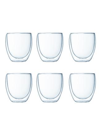 Pavina 6 Pcs Glass Dbl Wall Small 0.25l