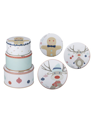 Oh What Fun Storage Tin 3pc