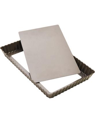 RECTANGULAR LOOSE BASE TART PAN 28.5X18CM