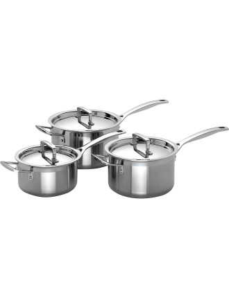 3-Ply 3 piece Saucepan Set