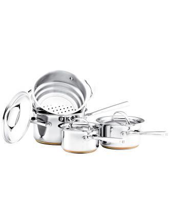 Per Vita 4-piece (3-piece Saucepan & Steamer Set)