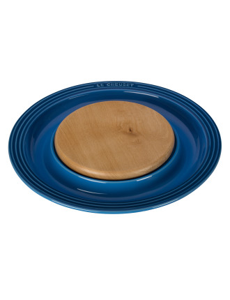 Round Platter With Cutting Board