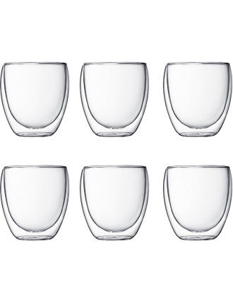 Pavina Double Walled Glasses - Pay 6 Get 8 Pack