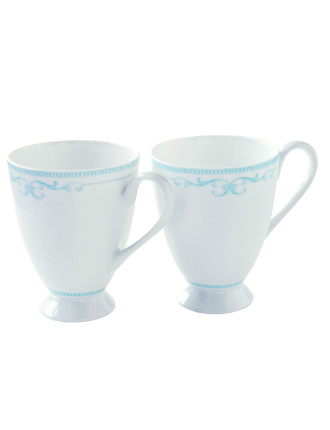 Modern Nostalgia Mug Set of Two