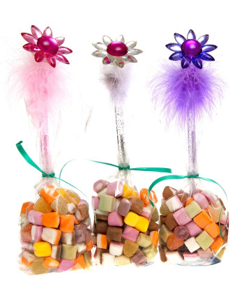 Flower Pen with Dolly Mixture 120g