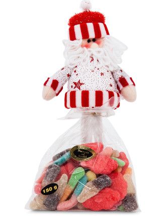 Standing Santa with mixed sour Lollies