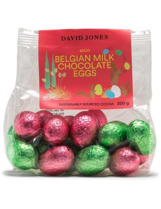 DAVID JONES FOOD SOLID BELGIAN MINI EGGS MILK 200G
