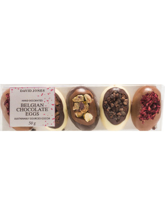 DJFO HAND DECORATED BELGIAN CHOCOLATE EGGS 50G