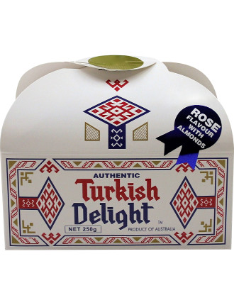 Turkish Delight Rose Flavour with Almonds 250g