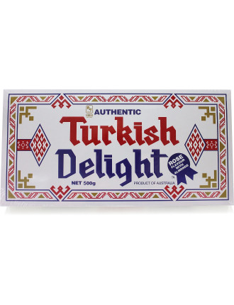 Turkish Delight Rose Flavour with Almonds 500g