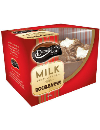 Milk Chocolate Rocklea Road Half Egg 180g