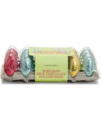 David Jones 18 Hollow Belgian Milk Chocolate Eggs 540g
