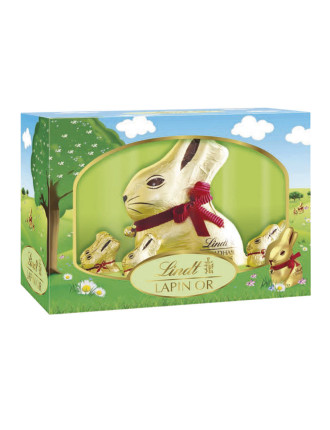 Gold Bunny Family Gift Box 250g