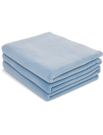 Hypo-Allergenic Velour Single Bed Blanket