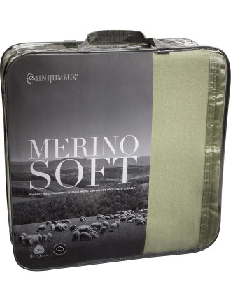 Merino Soft Wool Blanket Queen Bed