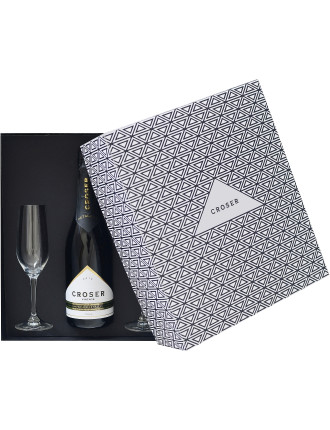 Croser Vintage Brut Gift Pack with Two Spiegelau Flutes