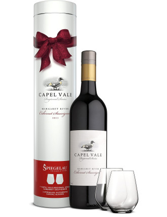Capel Vale Cabernet Gift Tube W/ Glasses