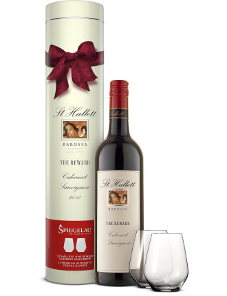 St Hallett Reward Cabernet Gift Tube W/ Glasses