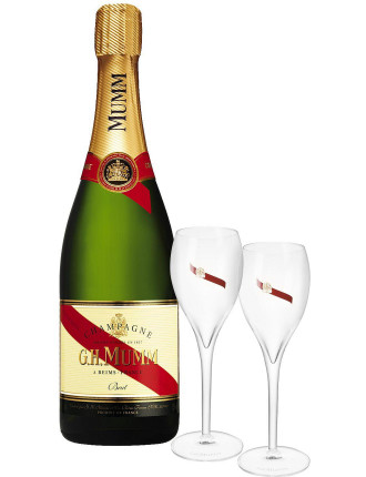 Mumm Cordon Rouge Nv Twin Flute Set