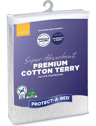 Premium Cotton Terry Pillow Protector (Each)