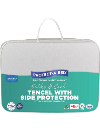 Tencel with Side Protection Mattress Protector King Single
