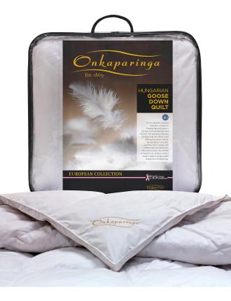 European Collection Goose Down Queen Bed Quilt