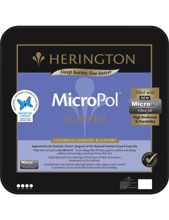 Micropol Low Allergy Topper Single