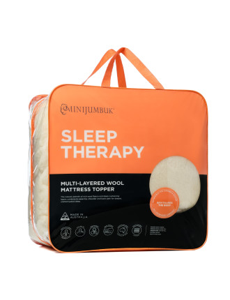Sleep Therapy Australian Wool Topper Double